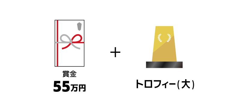 賞金55万円とトロフィー